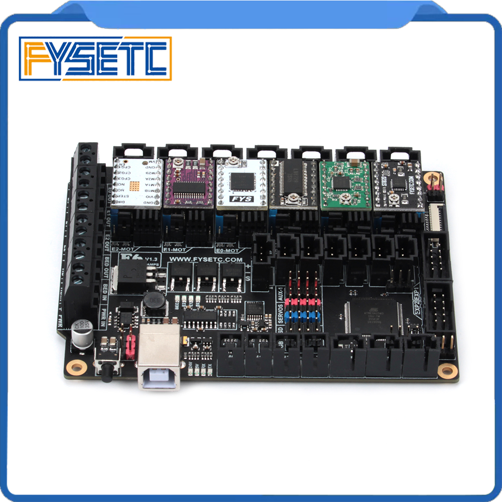все цены на FYSETC F6 V1.3 Board ALL-in-one Electronics Solution Mainboard + 6pcs TMC2100/TMC2208 v1.2/TMC2130 v1.2/DRV8825/S109/A4988/ST820