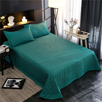 Luxury 100%Cotton Quilted Bedspread 3-piece Elegant European style Coverlet Set Oversized Embossed Coverlet with 10 Solid Colors