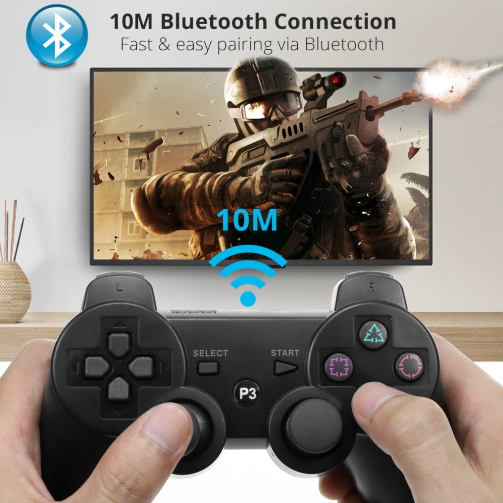 Image 2 - Gamepad Wireless Bluetooth Joystick For PS3 Controller Wireless Console For Sony Playstation 3 Game Pad Switch Games Accessories-in Gamepads from Consumer Electronics