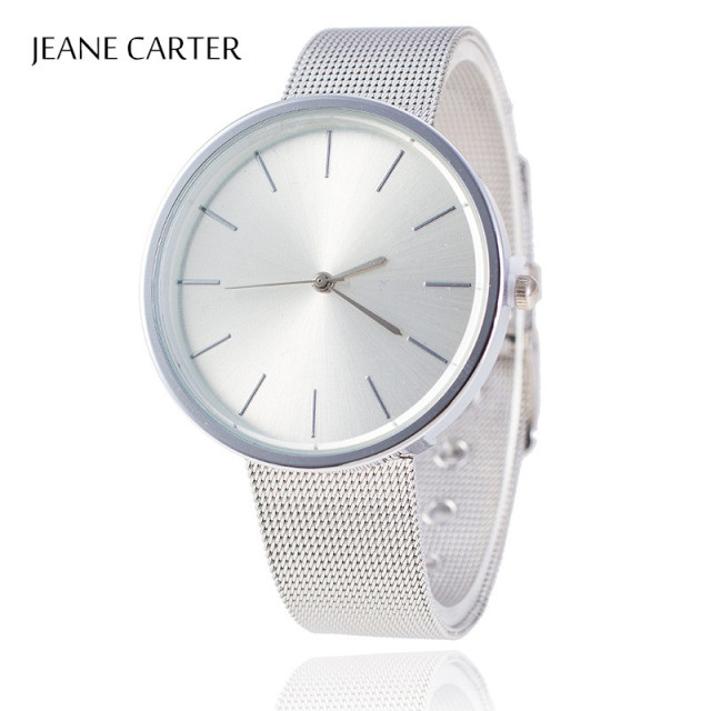 2018 Top Luxury Brand Women Quartz Watch Women Silver Full Steel Mesh Bracelet W