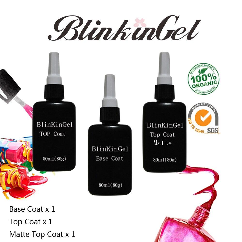 Blinkingel 80 ml No limpie mate empapa Esmaltes de capa superior sin ...