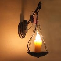 Warehouse Nostalgic bronze Bar lamp Antique E14 wall lamp Retro rustic Iron for bedroom work room Cafe hallway wall light LED