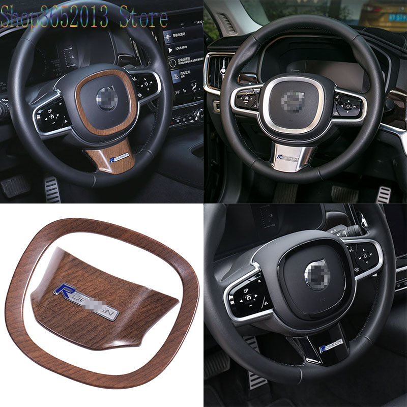 Car Styling Accessories 2pcs For Volvo XC60 S90 2018 2019 Steering wheel U type trim cover