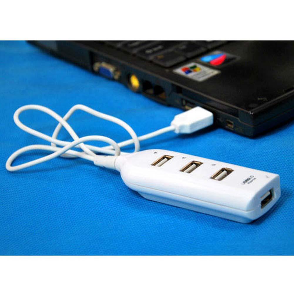 Blue Mini USB 2.0 Hi-Speed 4-Port Splitter Hub For PC Notebook High Speed TOP US