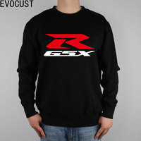 GSX RED R SUZUKI MOTOCYCLE men Sweatshirts Thick Combed Cotton