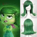 Movie Inside Out Disgust Short Green Cosplay Wig Culy Synthetic Party Chrismas Hair Wigs