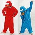 2016 Взрослых Зимняя Мужская Руна Пижамы Oneises Наборы Пижамы Все В Одном Пижама Устанавливает Косплей Cookie Monster Костюмы Пижамы