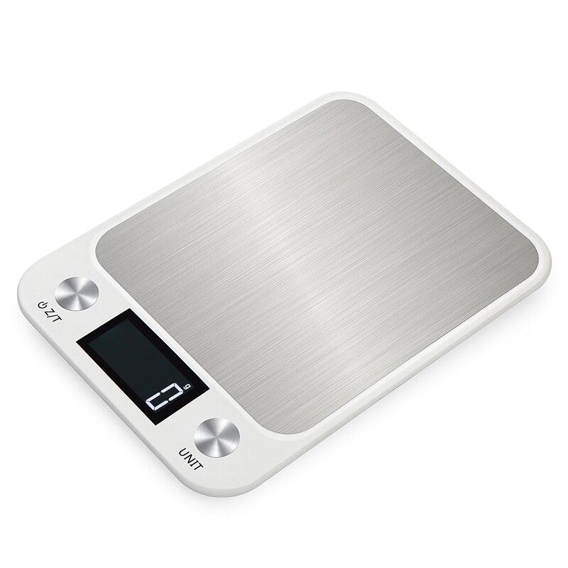 Цифровые кухонные весы, Многофункциональные кухонные весы до 10 кг из нержавеющей стали с ЖК экраном-2