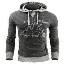 Printing Letter Hoodies Sweatshirts V Neck Sweats Men Clothing Loose Sweats Warm Plue Size Hoodies