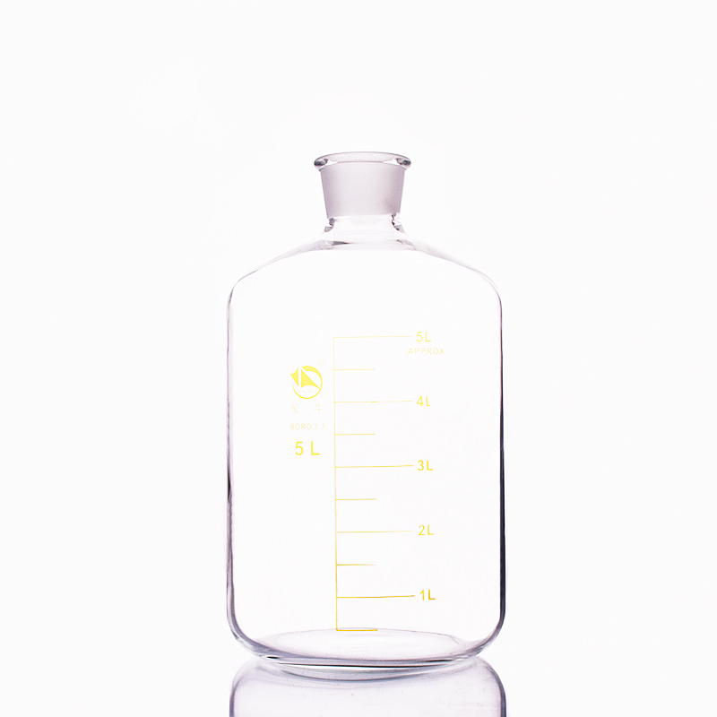Serum bottle Borosilicate glass 3.3 Capacity 5000ml 13# bottle mouth Reagent bottle Graduation Sample Vials Lid|Laboratory Bottle| |  - title=