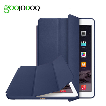 Original 1:1 PU Leather Ultra Thin Slim Smart Case for Ipad air 2 / air 1  ( Ipad 5 6 ) For Ipad Mini 1 2 3 Stand Cover LOGO