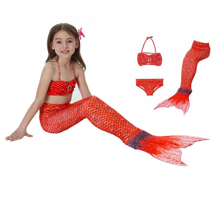 100% Vero I Bambini Delle Ragazze Della Sirena Coda Costume Da Bagno Per Bambini Cosplay Costumi Da Bagno Bikini Costumi Da Bagno Sirena Abito Da Principessa Costume Di Carnevale Nutriente I Reni Alleviare I Reumatismi