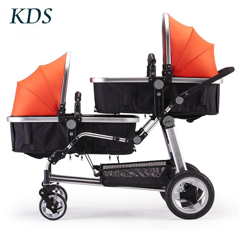 Kds/ High Landscape Child Baby Stroller Caedus Twin Double Folded Before And After Can Sit DownKds/ High Landscape Child Baby Stroller Caedus Twin Double Folded Before And After Can Sit Down