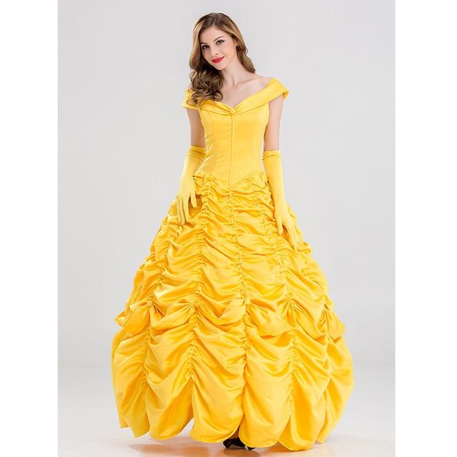 Halloween Beauty Beast Costumes For Women Fairy Adult Princess Belle