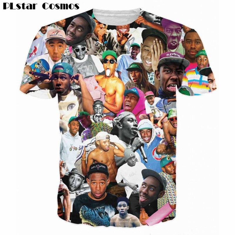 Plstar Cosmos nueva popular rapero Tyler el Creador 3D impresión Odd futuro hip hop camiseta hombres Wome moda camiseta