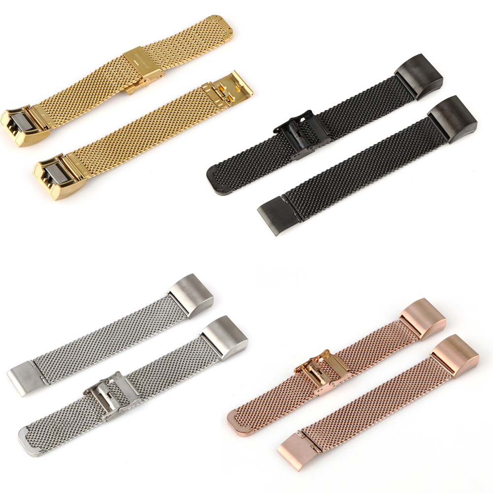 New Luxury Loop Stainless Steel Smart Wristband Strap Replacement Bracelet Watch Band Strap For Fitbit Charge 2