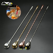 1 Piece Stainless Steel Mixing Cocktail Spoon, Spiral Pattern Bar Teadrop Spoon Stir Spoon Bar Tool Bartender Tool купить недорого в Москве