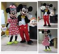 2PC  High quality  mouse mascot  Minnie  mouse mascot costume  free shipping