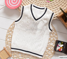 The famous spring and autumn 100% boy sweater / European and American fashion V-neck sweater vest vest jacket 1-6T child / Gift