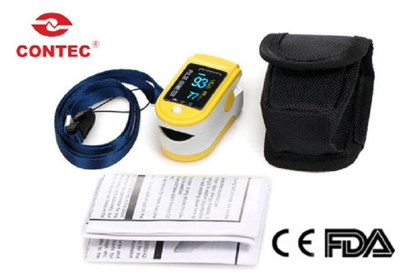 Contec cms50d fingertip oxímetro de pulso spo2