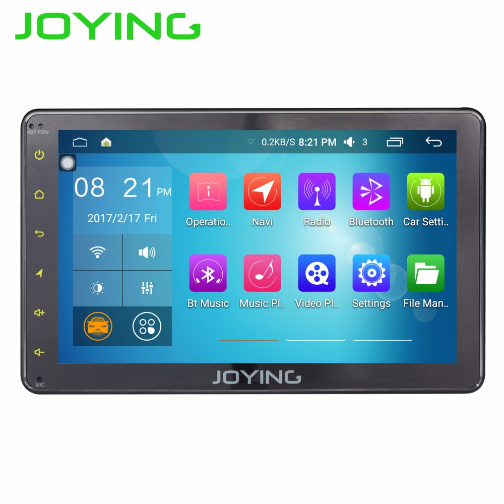 JOYING 7 Android 6.0 Car Radio Single 1 Din 1024*600 GPS Navigation Universal Stereo Quad Core Head Unit Car Multimedia Player smartech 2 din android 6 0 1 os car gps navigation quad core 7 inch car stereo radio head uint support video output dab obd dvr