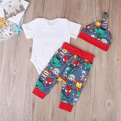Pudcoco-2017-Hot-3PCS-Newborn-Infant-Baby-Boys-Clothes-Cartoon-Tops-Short-Sleeves-Romper-Pants-Hat-Outfits-Set-0-18M-1