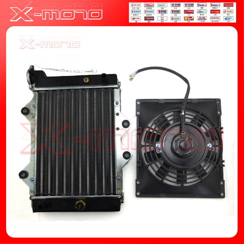 цена NEW 200cc 250CC Water cooling engine cooler Radiator cooling 12v fan for motorcycle moto Quad 4x4 ATV UTV parts