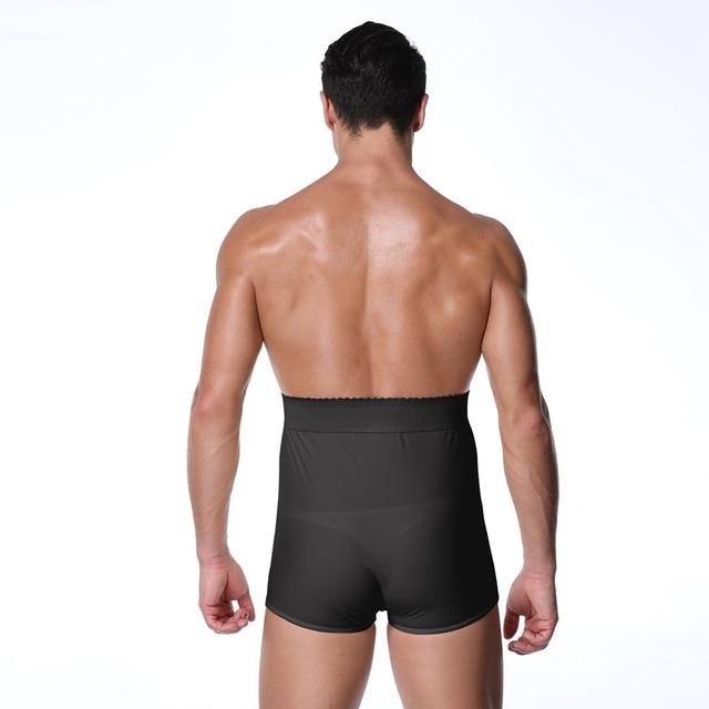 S-6XL Men Padded Butt Lifter panties fitness Waist trainer shapewear steampunk men Tummy Trimmer Corset Man pad Control Panties 3