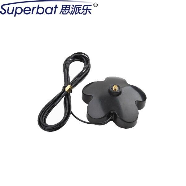 Superbat 2.4 ghz wifi antena booster base plum blossom tipo con rp-sma conector 300 cm cable externo para wlan inalámbrica