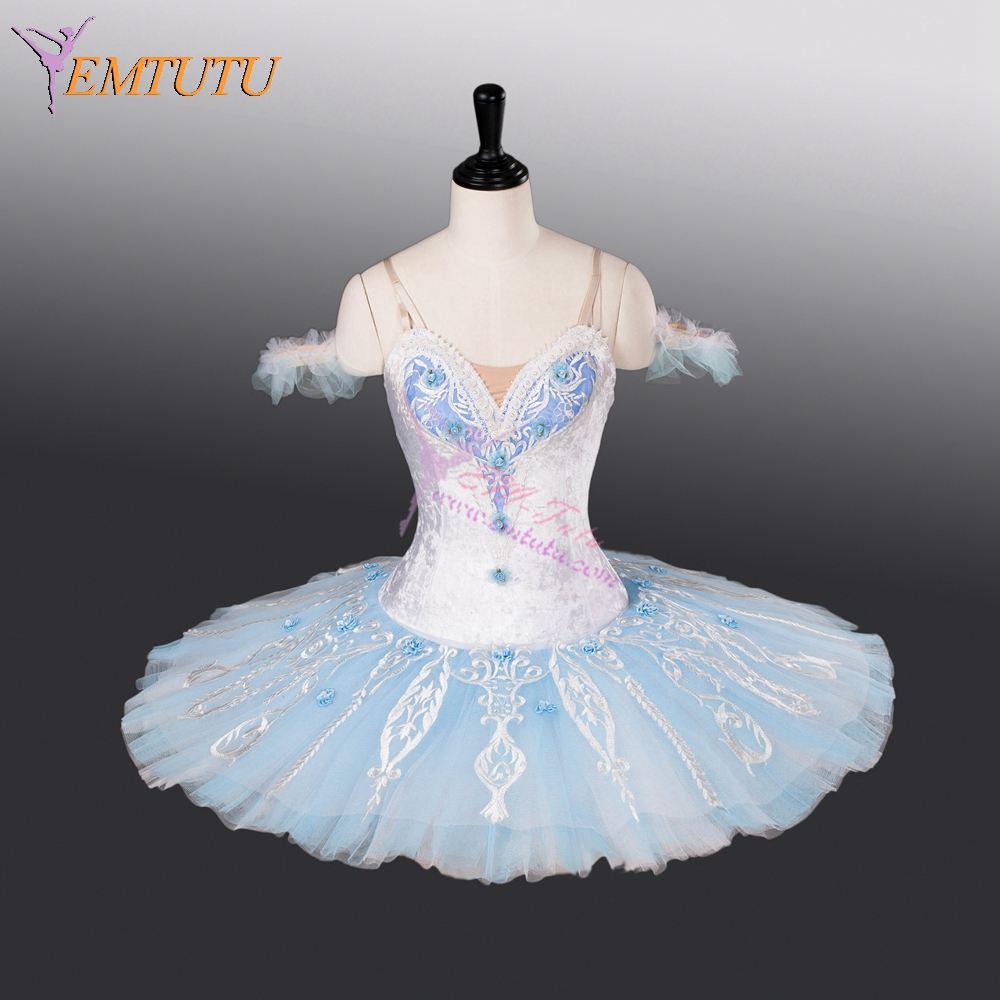 adult professional ballet tutu light blue classical pancake ballet tutus nutcracker performance competition ballet stage costume