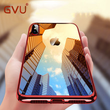 GVU Phone Case For iPhone X Luxury Plated TPU Transparent Ultra Thin Silicone Cover For iPhone 7 6 6S 8 8Plus Phone Accessories