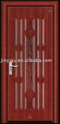 steel wood interior door(filling with poly foam),steel wooden interior door
