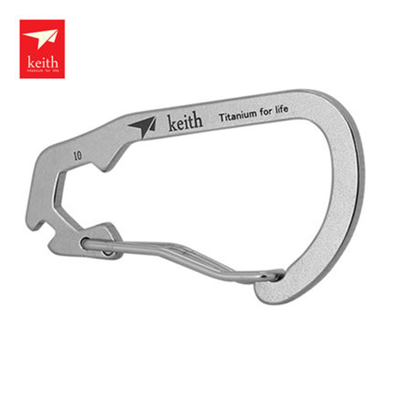 Keith Titanium Carabiner Climbing Hanging Buckle Camping Mountaineering Keychain Escalade Equipement Multifunctiona KR1104 ...