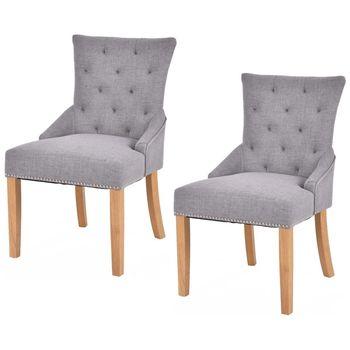 Giantex conjunto de 2 sin brazos sillas de comedor elegante diseño ...