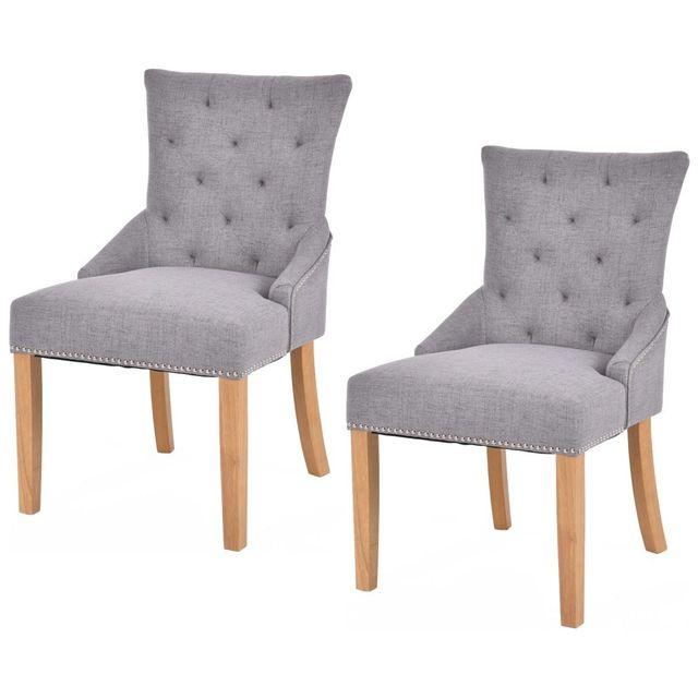 Giantex conjunto de 2 sin brazos sillas comedor elegante diseño copetudo  tela tapizada sofá muebles para el hogar moderno HW53785