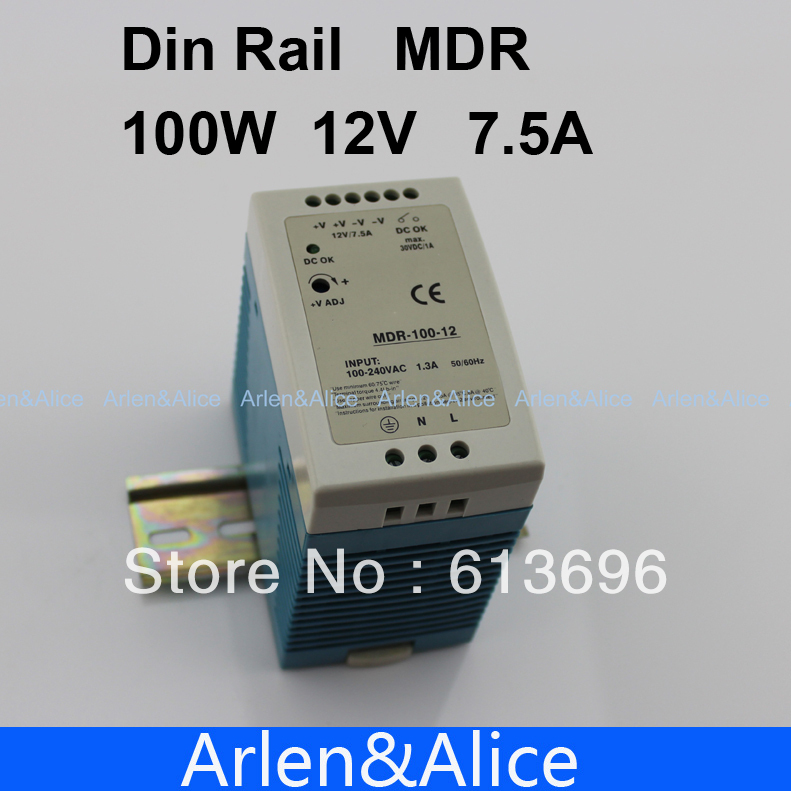 100W 12V 7.5A MINI  Din Rail Single Output Switching power supply спиннинг штекерный swd wisdom 1 98 м 2 10 г