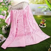 Hohes Quanlity Klimaanlage Zimmer Frhling Sommer Rosa Decke Doppel Seite Wasser Waschen Dnn Und Weich Quilt