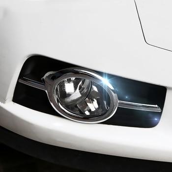 1 Pair Chrome Front Fog Lamp Light Cover Trim For Chevrolet Chevy Cruze 2009-2014 for chevrolet cruze led head lamp 2009 to 2011 v4 type