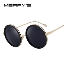 MERRYSTORE Fashion Women Round Sunglasses Brand Designer Classic Shades Men Luxury Sunglasses UV400