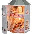 Кукольный дом миниатюрный ручной работы Diy сборка модели здания наборы роскошный кукольный домик подарок на день рождения - любовь форты спецификация