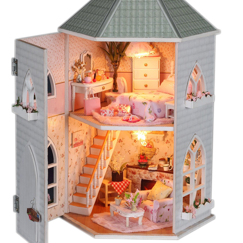 Delightful Doll House Miniature Handmade Diy Assembling Model Building Kits Luxurious  Dollhouse Birthday Gift Love Forts Specification In Model Building Kits  From Toys ...