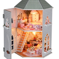 Modelo de montagem Diy casa de boneca em miniatura Kits de bonecas presente de aniversário de luxo - fortes especificação