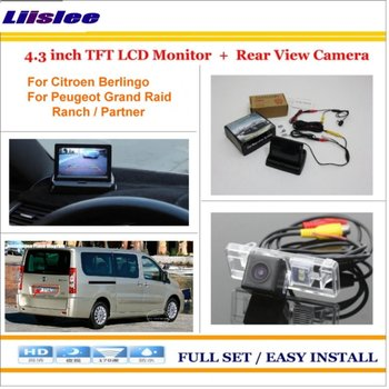 """Liislee For Fiat Scudo / For Peugeot Expert /For Toyota  ProAce 4.3"""" TFT LCD Monitor + Car Rearview Back Up Camera"""