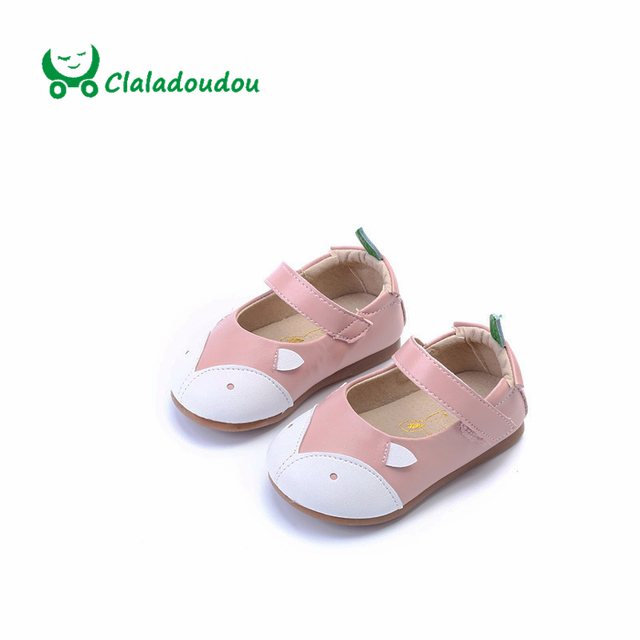 Brand Shoes Toddler Girl Fox Pattern Shoes Baby Girl PU Leather Baby Moccasins Princess Party Dressing Kids Shoes