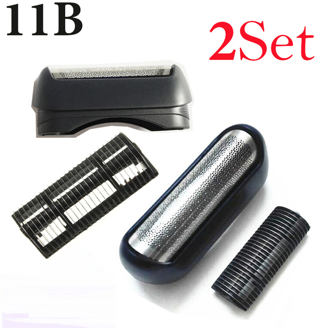 2Set high performance parts Shaver Foil Frame and Blade 11B for BRAUN Razor Series 1 110 120 130 140 150 150s-1 130s-1 5684 5685