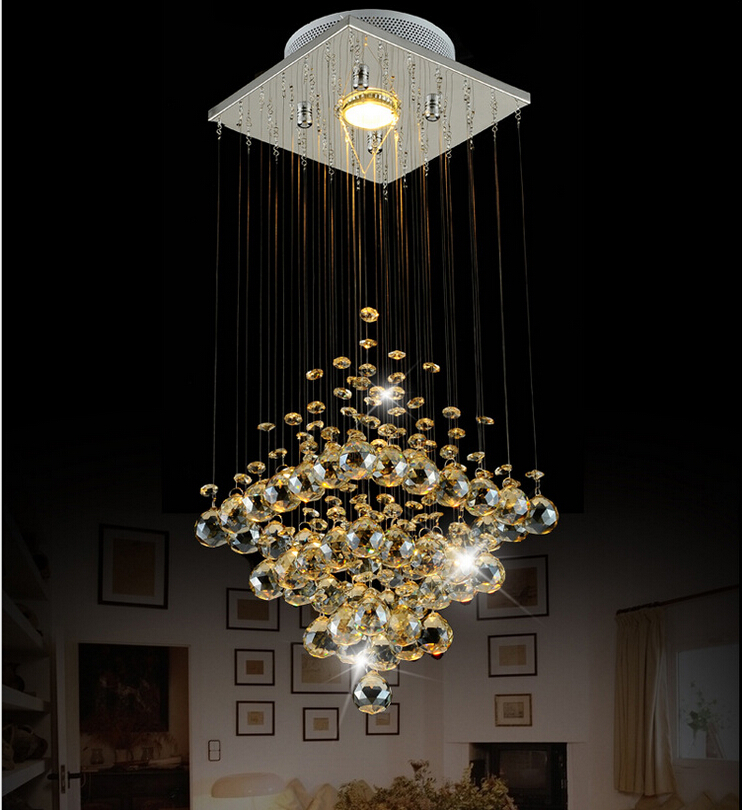 ФОТО Free Shipping D200mm Modern Chandeliers,Crystal Pendant Lamp First-Level K9 Crystal Chandelier For Living Room With LED Bulb AC