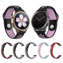 Silicona respirable deportes banda reloj de la correa de muñeca pulsera de 18 20mm correa de caucho bandas para Ticwatch C2