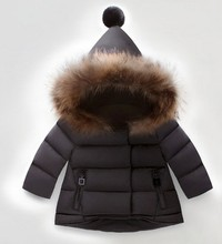 The newborn infant girls winter warm cotton padded jacket thick coat female baby children