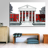 Large Size Printing Oil Painting Ole Miss Wall Painting Home Decor Wall Art Picture For Living