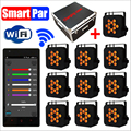 10 Lights + Charging Flight Case RGBWA+UV 6IN1 WiFi Smart Par Battery Powered DMX Wireless Led Uplighting